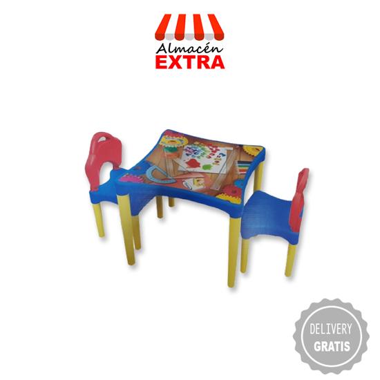 Imagen de Mesita taller + dos sillitas + un mes de diarios de viernes, sábados y domingos