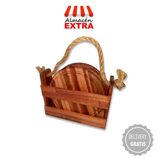 Imagen de Caja de madera + cuatro platos + 10 días de diarios