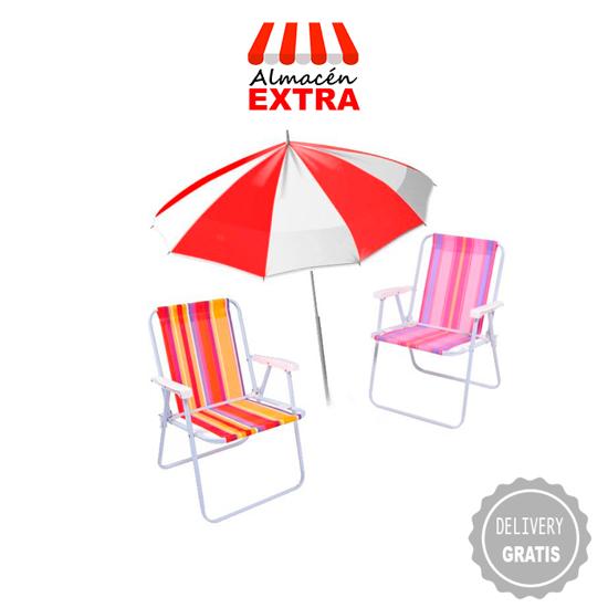 Imagen de Combo 2 sillas mor + 1 sombrilla + 10 días de diarios